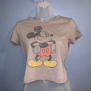 Vintage looking Disney Mickey Mouse crop top